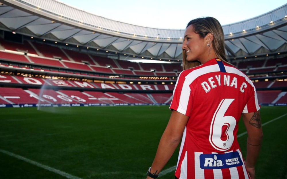 Deyna Castellanos professional female soccer player Atlético Madrid) spain