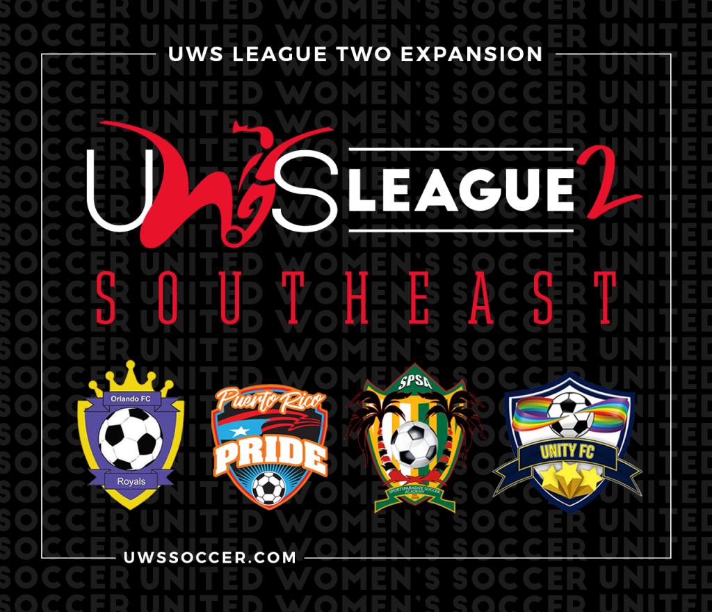 United Women's Soccer UWS League Two Orlando FC Royals Puerto Rico Pride SportsParadize Soccer Academy Unity FC Florida Sunshine
