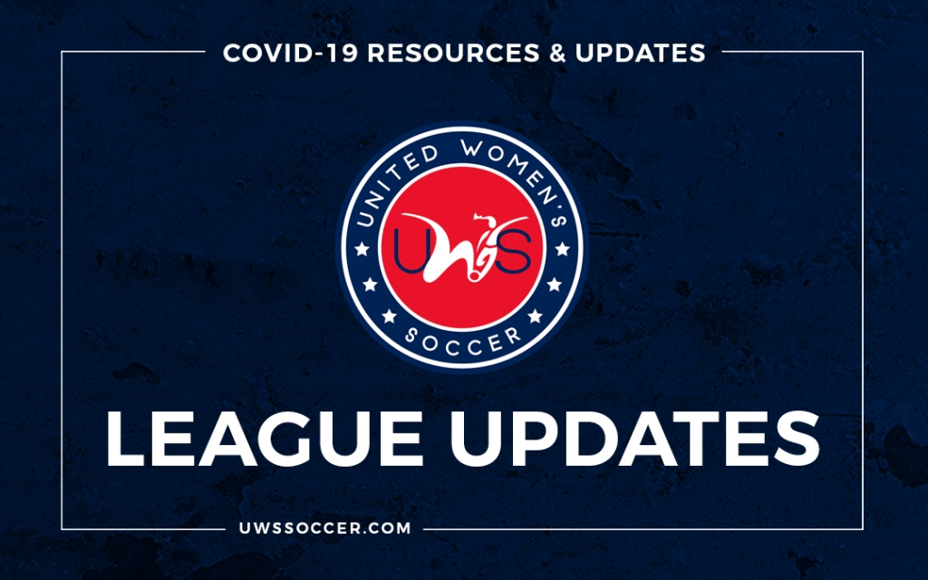United Women's Soccer UWS league updates COVID-19 coronavirus pandemic