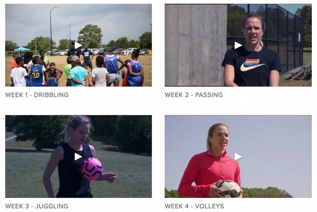 AFC Ann Arbor Community Kicks Giving Back UWS players United Women's Soccer Bethany Balcer