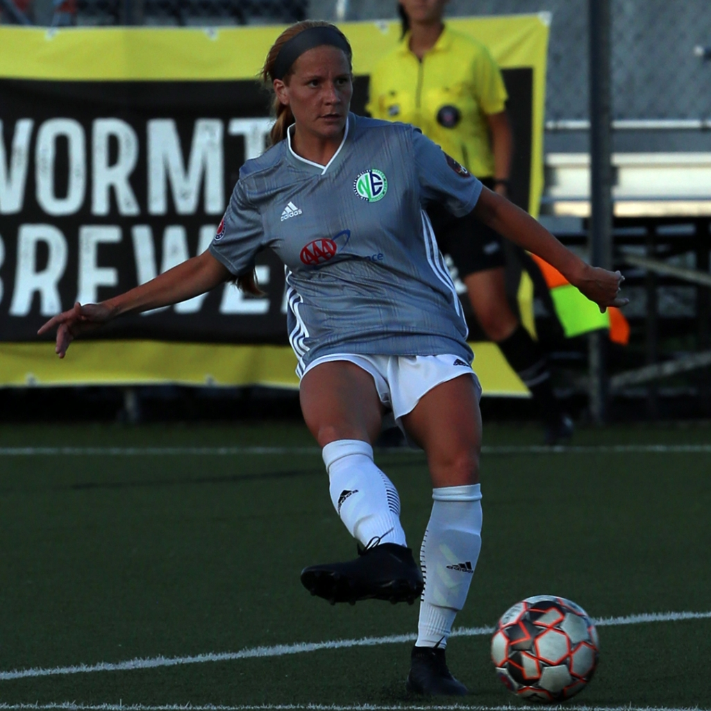 United Women's Soccer UWS national pro-am league professional players Julia Weithofer NE New England Mutiny
