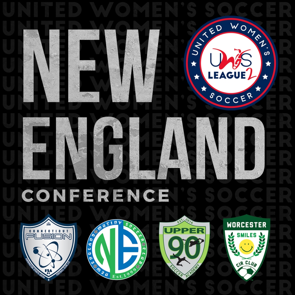 United Women's Soccer UWS League Two national pro-am New England Mutiny NE Conference UWS2 Connecticut Fusion CT Worcester Smiles MA Upper 90 Soccer Academy