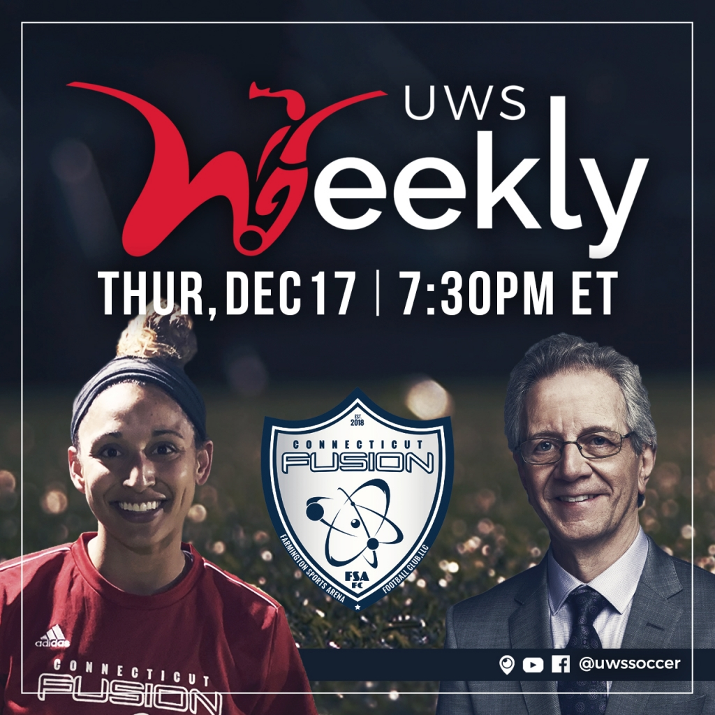 United Women's Soccer UWS national pro-am league UWS Weekly JP Dellacamera CT Fusion Connecticut Fusion Kylee McIntosh