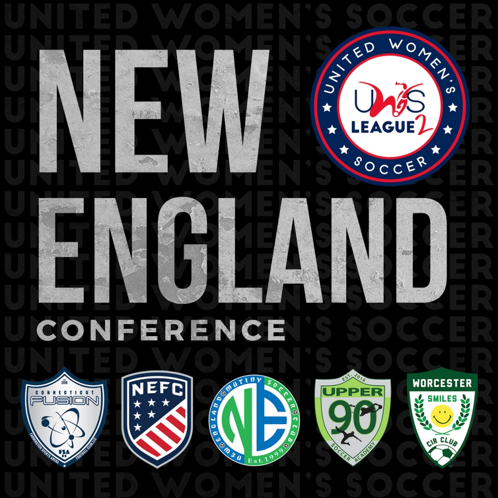 United Women's Soccer UWS League Two national pro-am league NEFC New England Mutiny Worcester Smiles Upper 90 Soccer Academy CT Fusion
