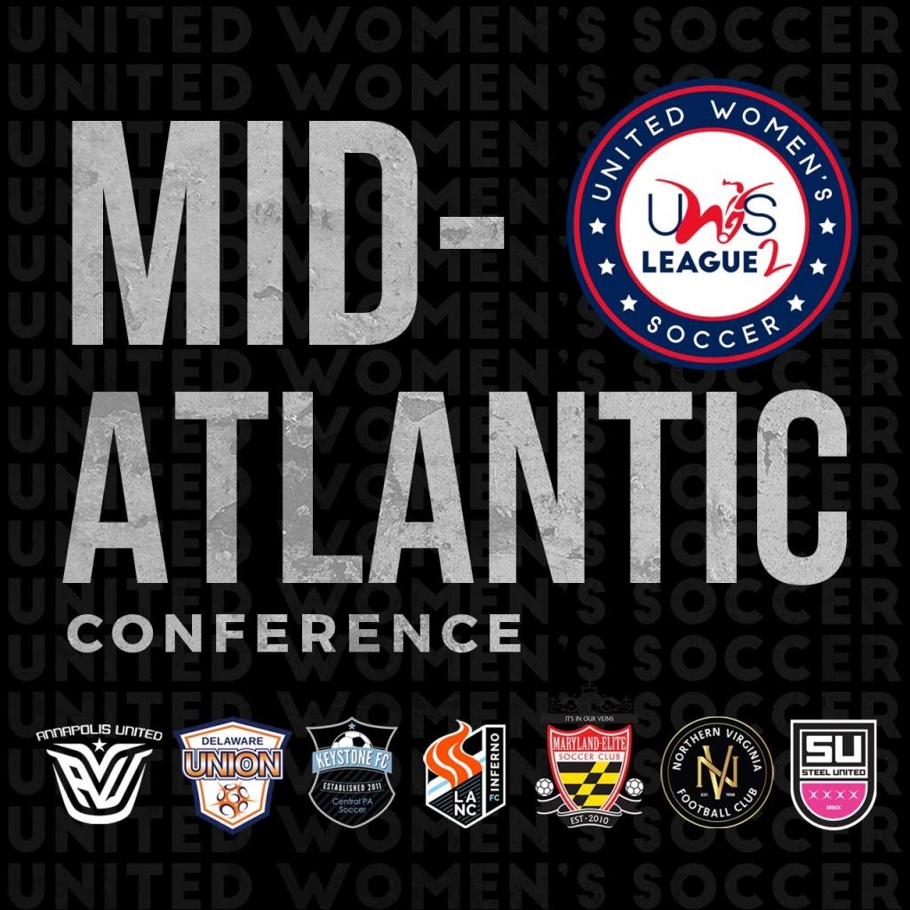 United Women's Soccer UWS League Two UWS2 Mid-Atlantic Conference Lancaster Inferno Annapolis United Nova FC VA Delaware Union Keystone FC Maryland Elite Steel United PA