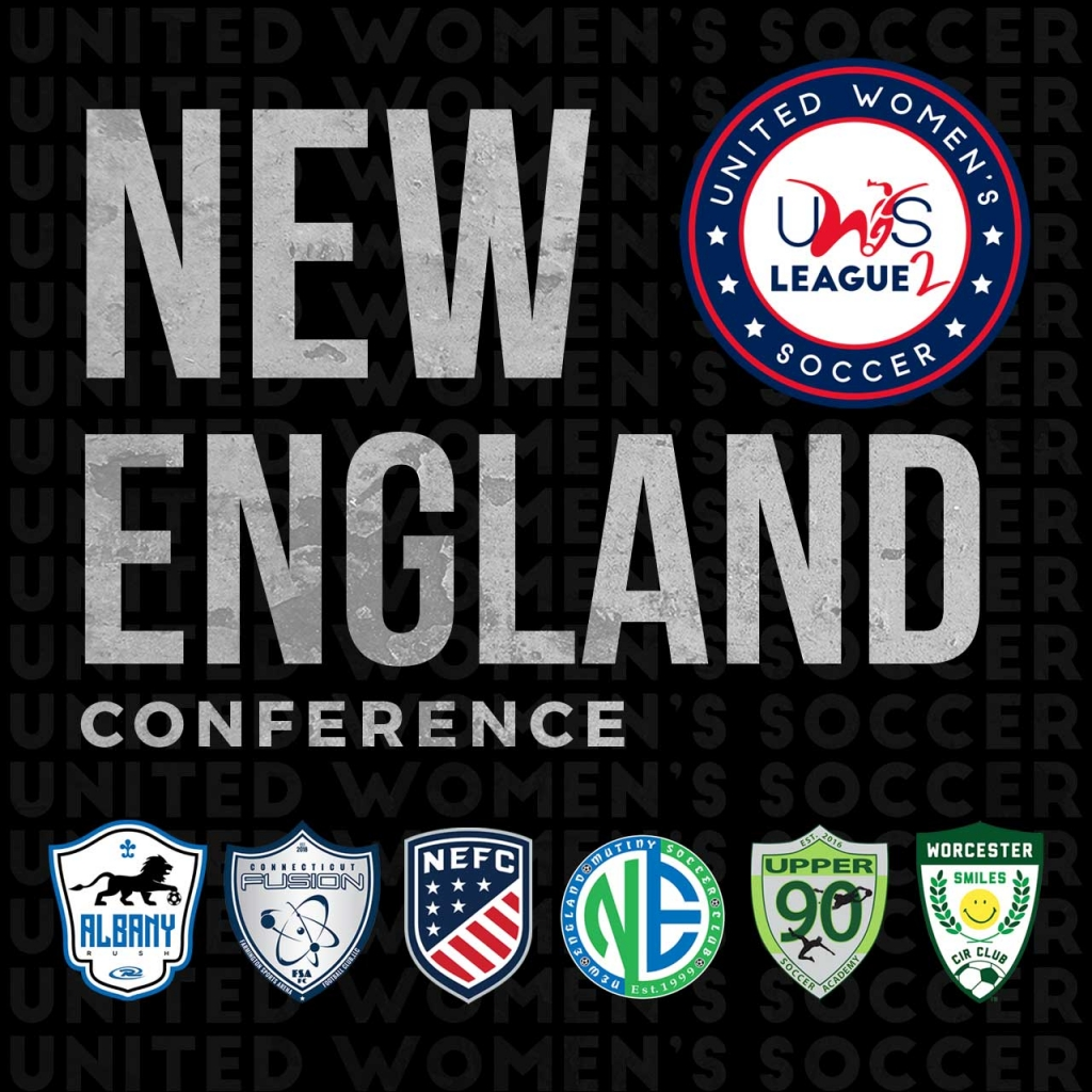 United Women's Soccer UWS League Two national pro-am league NEFC New England Mutiny Worcester Smiles Upper 90 Soccer Academy CT Fusion Albany Rush