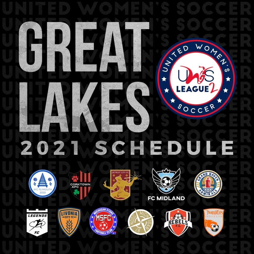 United Women's Soccer UWS League Two UWS2 Michigan Great Lakes Conference Schedule 2021