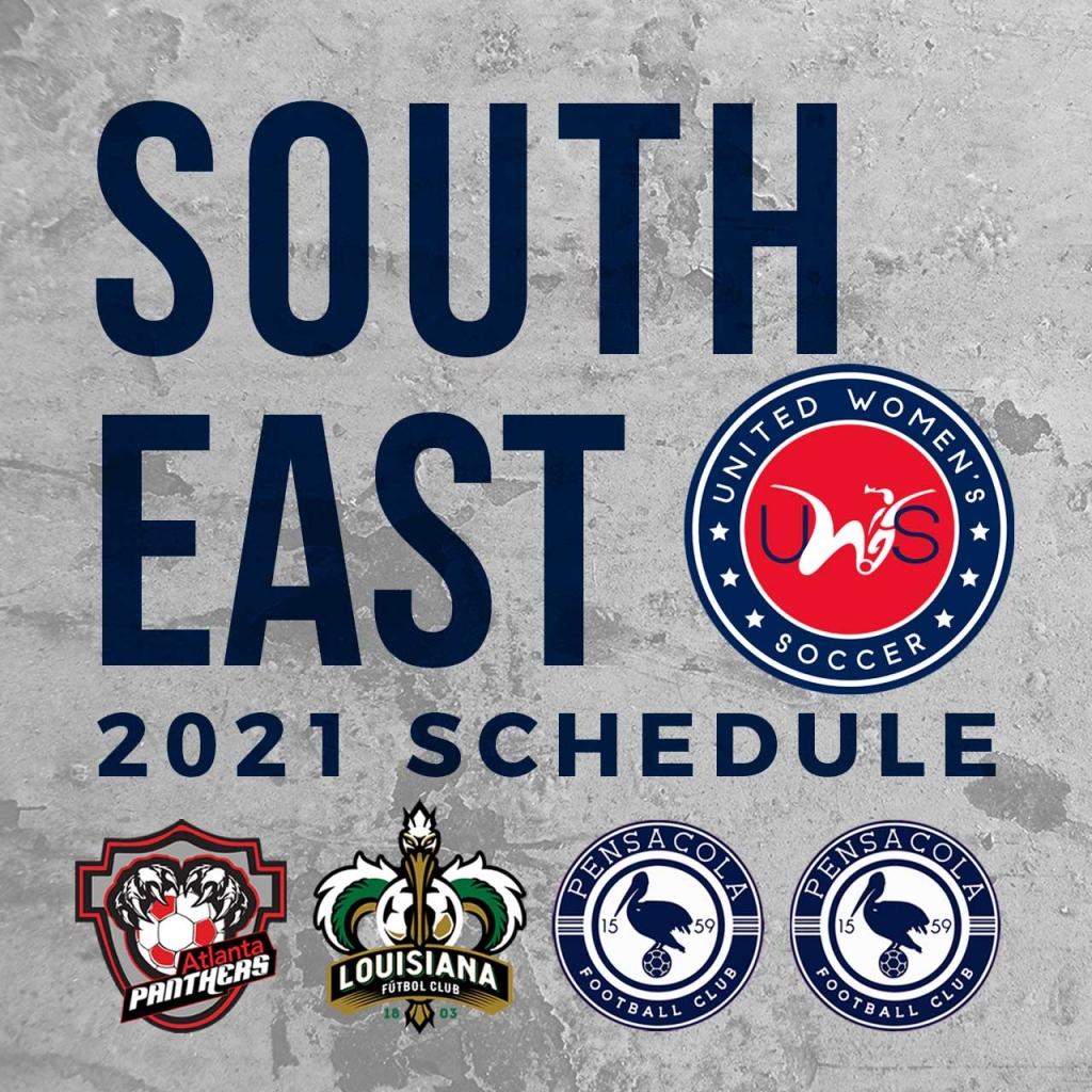 United Women's Soccer UWS national pro-am league Southeast Conference Atlanta Panthers SC Louisiana FC Pensacola FC Pensacola FC Academy