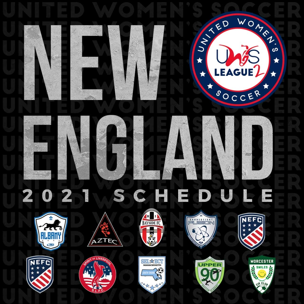 United Women's Soccer UWS national pro-am league UWS League Two UWS2 New England Conference Schedule MA RI CT