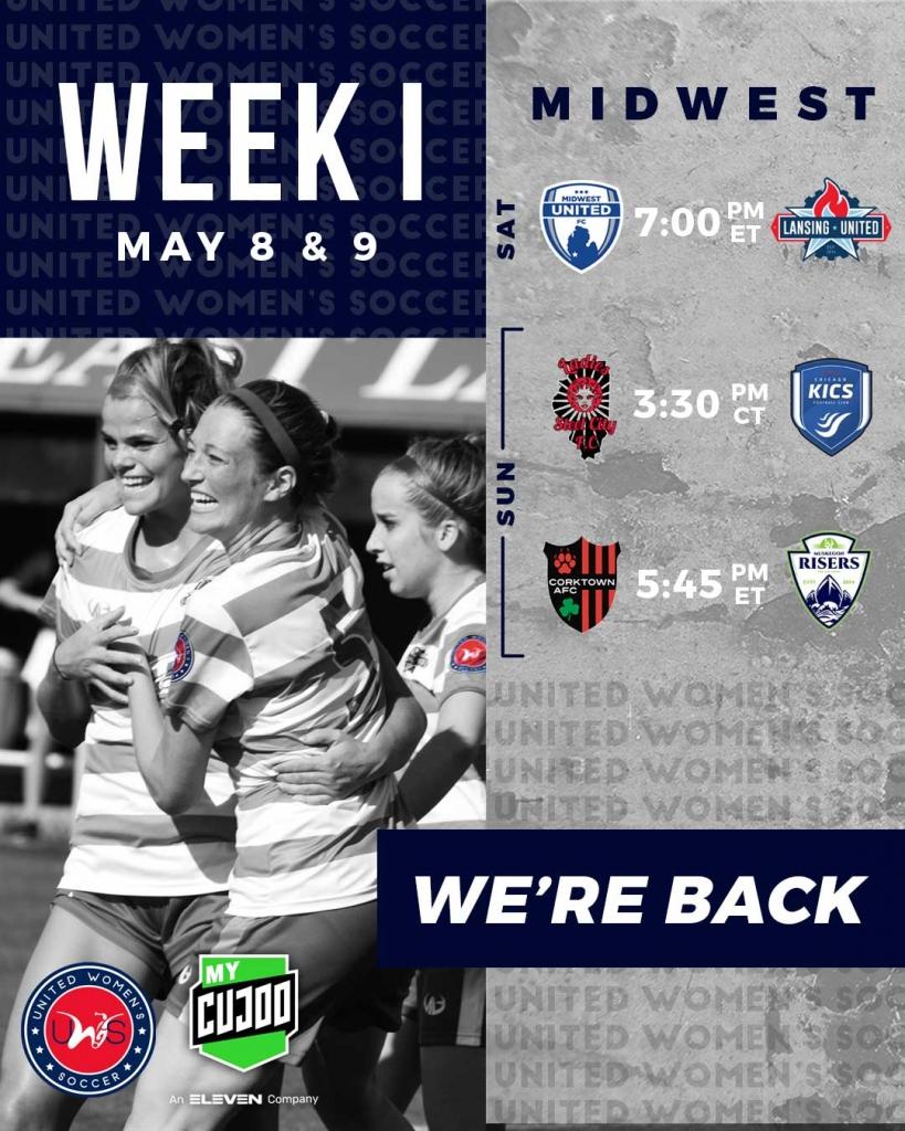 United Women's Soccer UWS national pro-am league 2021 season matches