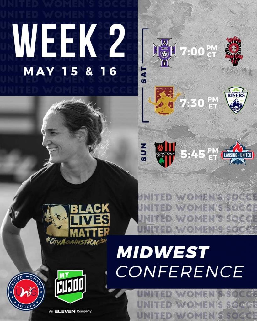 United Women's Soccer UWS national pro-am league Detroit City FC Muskegon Risers MSC Peoria Ladies Steel FC Corktown AFC Lansing United