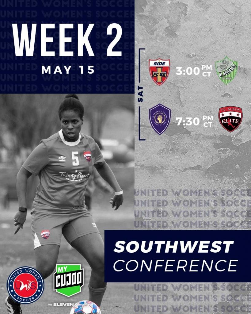 United Women's Soccer UWS national pro-am league Side FC 92 Alacranes FC San Antonio Athenians FC Austin Elite