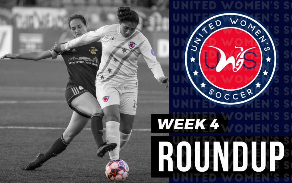 United Women's Soccer UWS national pro-am league week 4 roundup Chicago Mustangs Detroit City FC