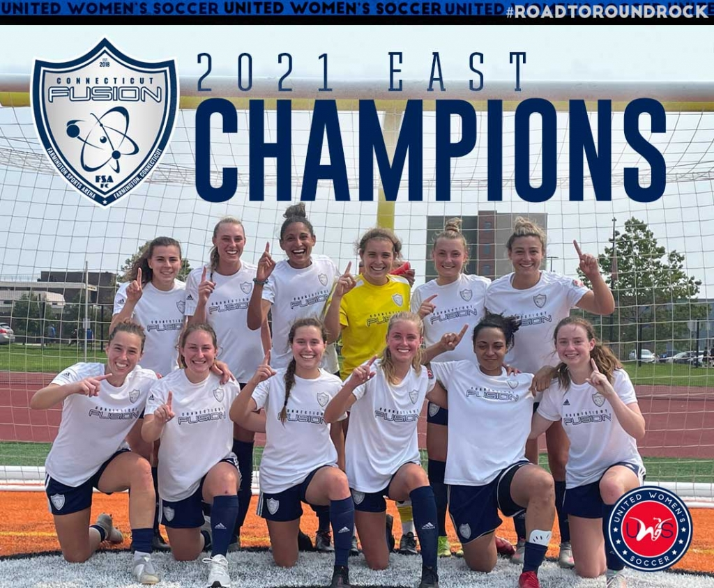 United Women's Soccer UWS national pro-am league 2021 UWS Playoffs CT Fusion Connecticut Fusion 2021 East Conference Champions