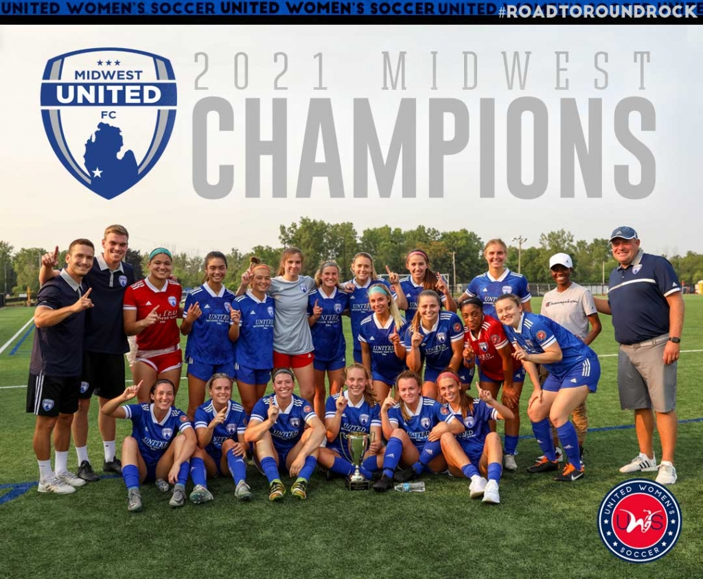 United Women's Soccer UWS national pro-am league 2021 UWS Playoffs Midwest United 2021 Midwest Conference Champions