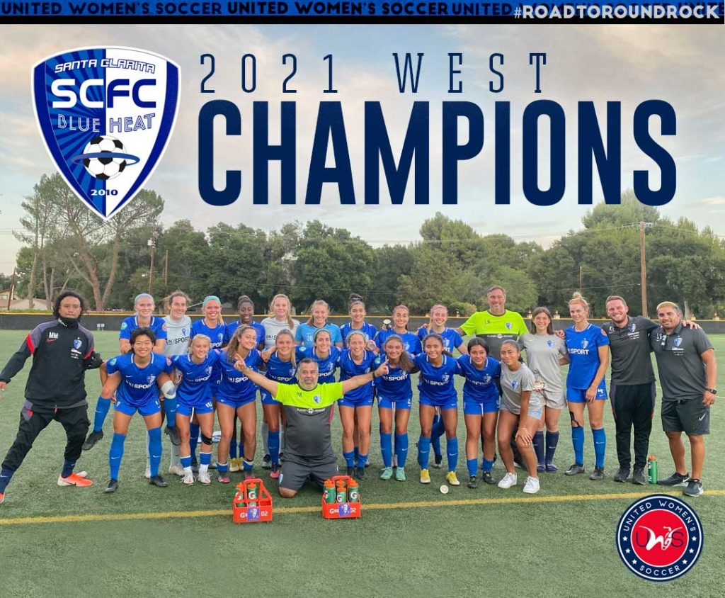 United Women's Soccer UWS national pro-am league Calgary Foothills WFC Santa Clarita Blue Heat SCBH 2021 West Conference Champions