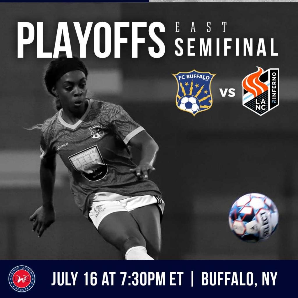 United Women's Soccer UWS national pro-am league 2021 UWS Playoffs FC Buffalo Lancaster Inferno Lanc PA NY