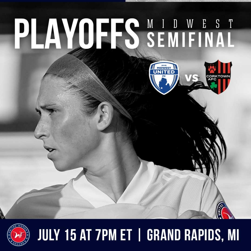 United Women's Soccer UWS national pro-am league 2021 UWS Playoffs Midwest United FC Corktown AFC