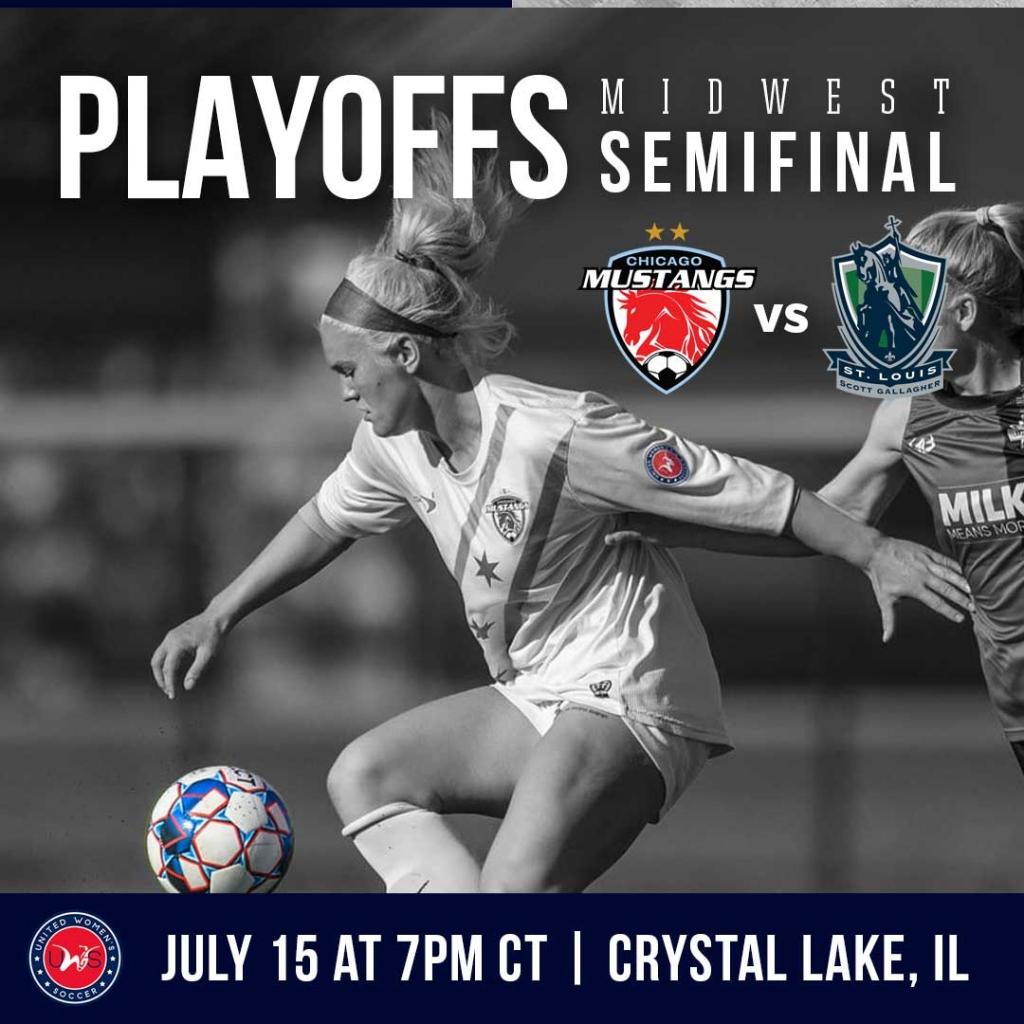 United Women's Soccer UWS national pro-am league 2021 UWS Playoffs Chicago Mustangs St. Louis Scott Gallagher SLSG
