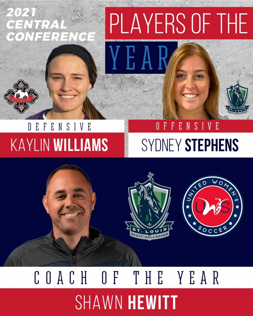 United Women's Soccer UWS national pro-am league awards central conference