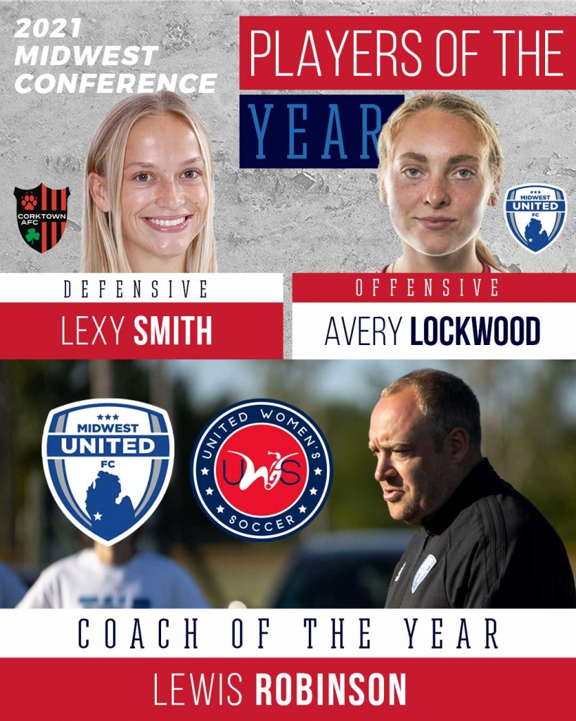 United Women's Soccer UWS national pro-am league awards midwest conference