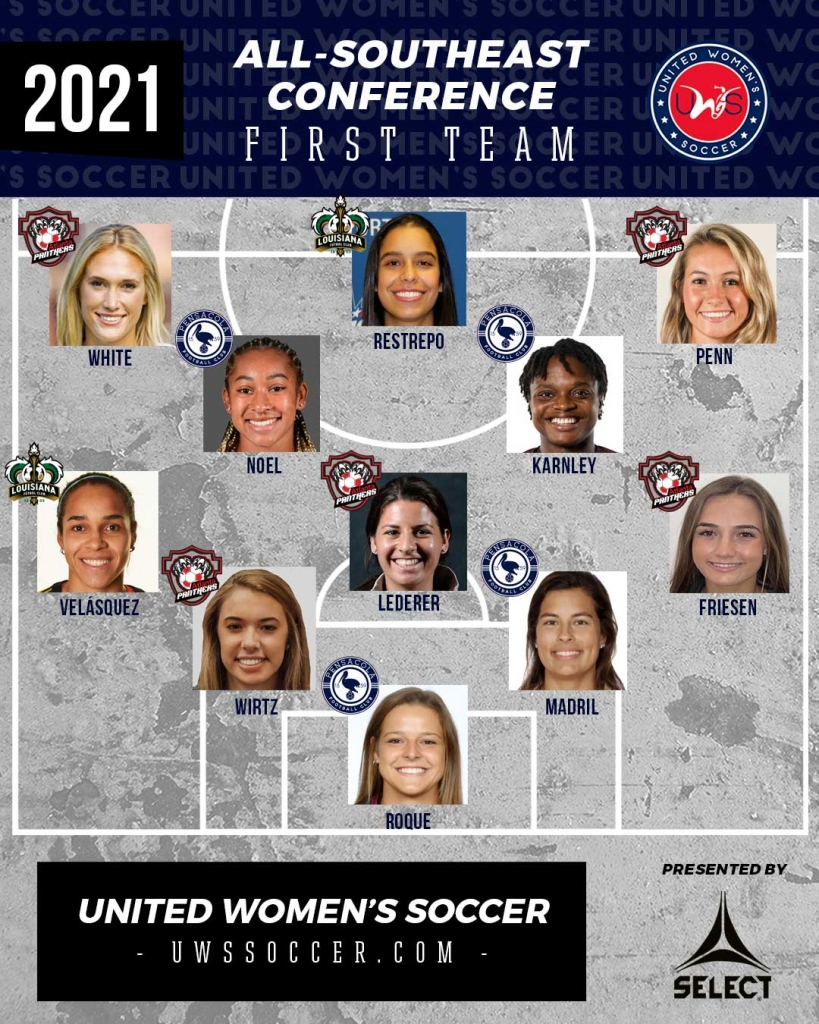 United Women's Soccer UWS national pro-am league awards southeast conference
