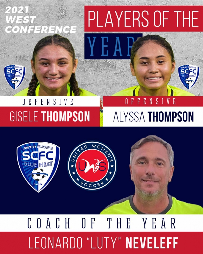 United Women's Soccer UWS national pro-am league awards west conference