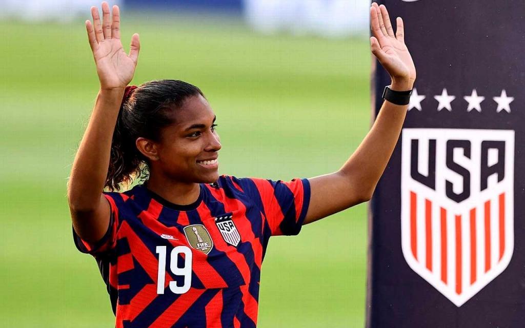 United Women's Soccer UWS national pro-am league Catarina Macario USWNT Tokyo Olympics